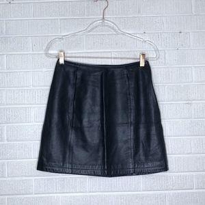Wilsons Leather Vintage Skirt Mini Aline Black 8